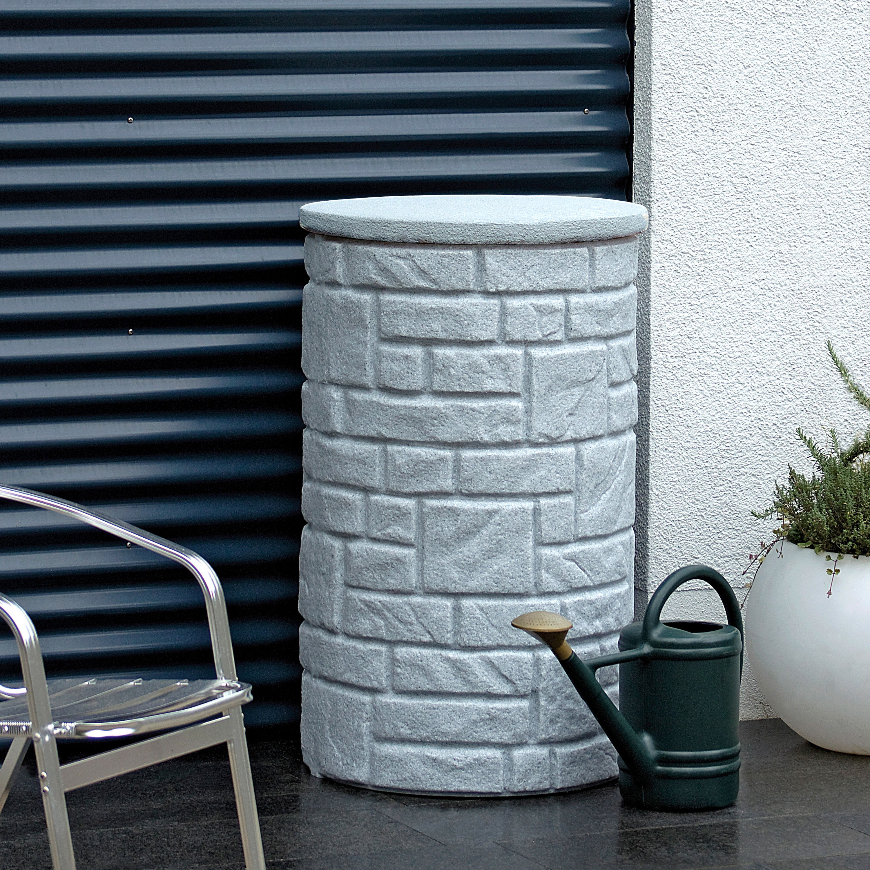 regentonne grau arcado 230 l granit. Black Bedroom Furniture Sets. Home Design Ideas