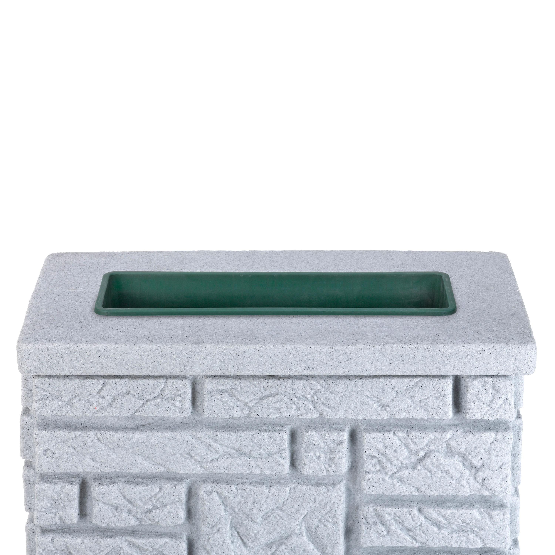 regentonne eckig wandtank maurano 300 l granit. Black Bedroom Furniture Sets. Home Design Ideas