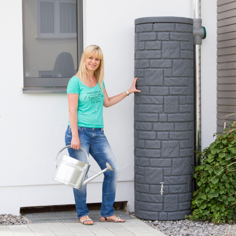 regentonne anthrazit modell arcado 460 l black granit. Black Bedroom Furniture Sets. Home Design Ideas