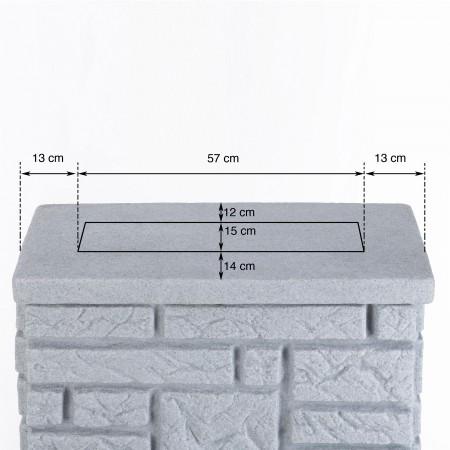 regentonne eckig wandtank maurano 300l granit. Black Bedroom Furniture Sets. Home Design Ideas